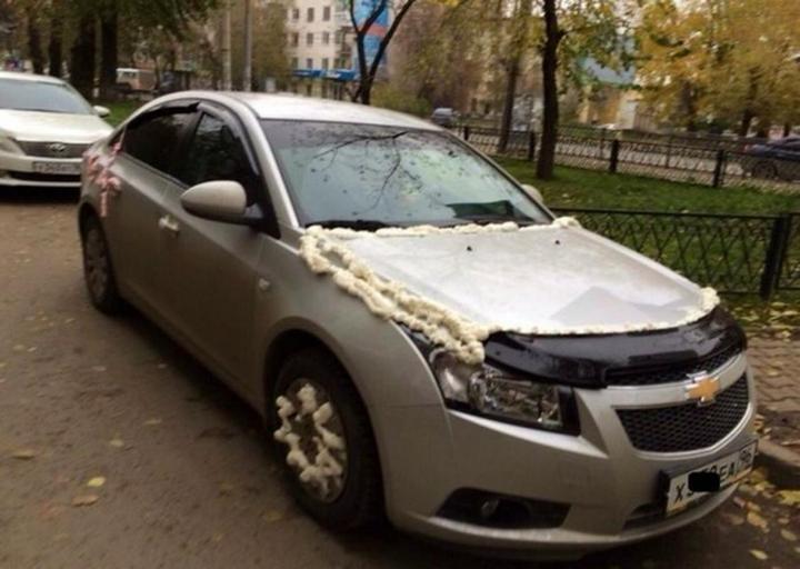 Подборка наказаний за хамскую парковку (7)