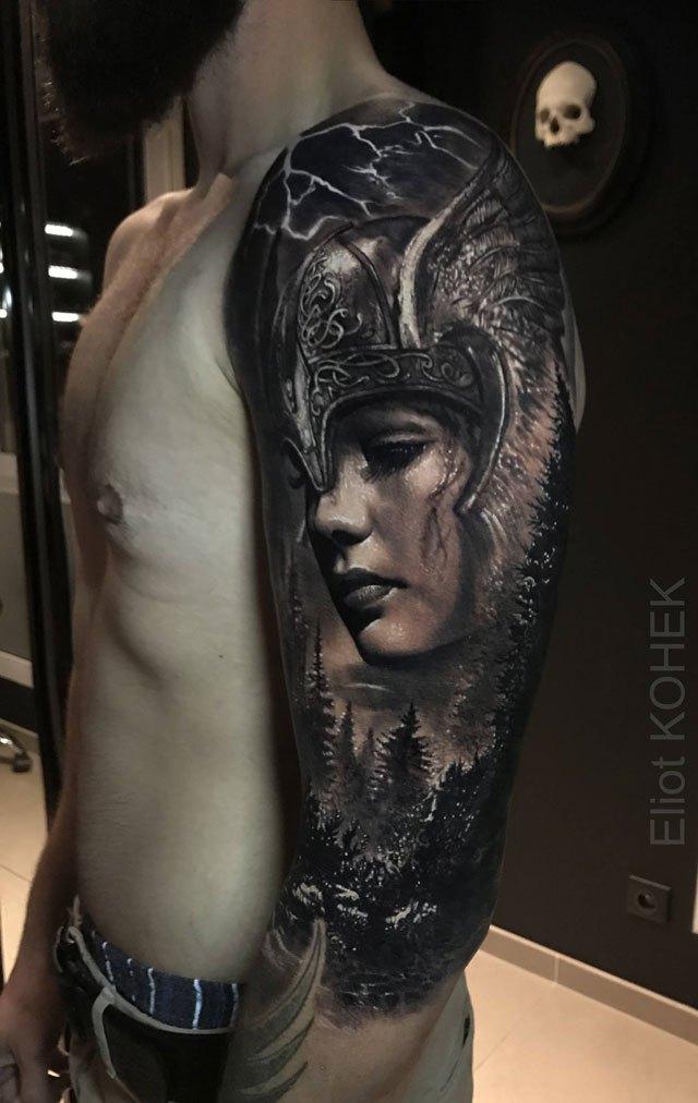 Реалистичные 3D татуировки от Eliot Kohek (4)