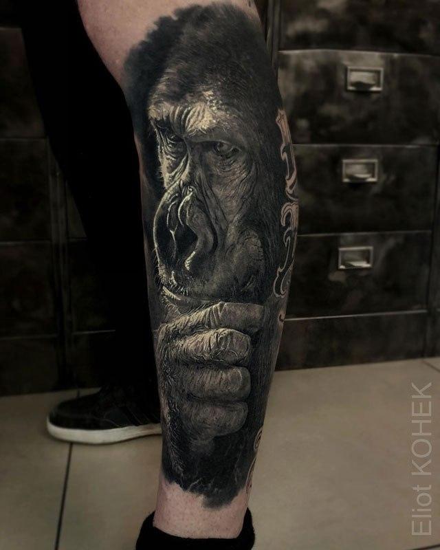 Реалистичные 3D татуировки от Eliot Kohek (1)