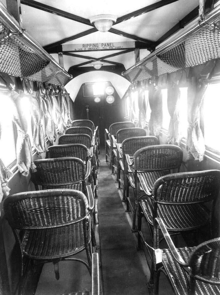 Салон самолёта компании Imperial Airways, Англия, 1936 год