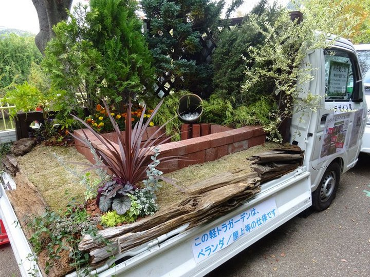 Сад в кузове грузовика? Это Япония, детка (10)
