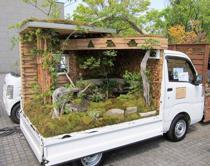 Сад в кузове грузовика? Это Япония, детка (8)