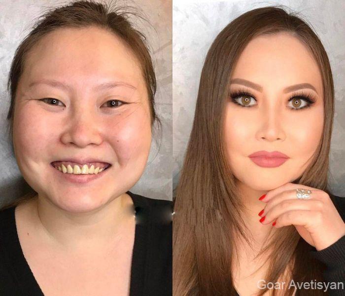 Как косметика в руках профессионал преображает любую женщину (3)