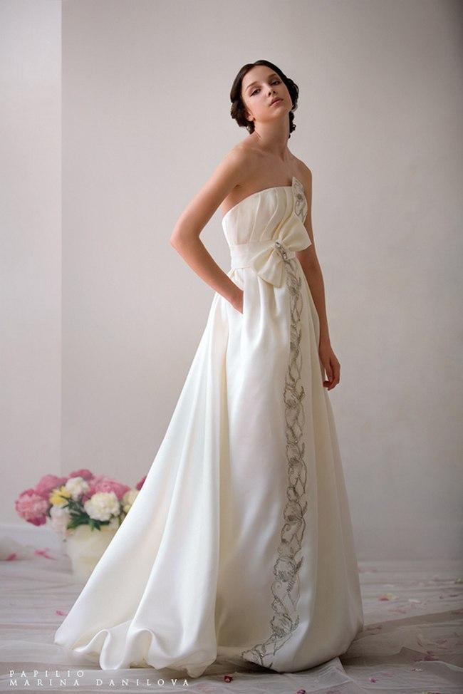 Красивые свадебные платья фото 2012, различные стили свадебных платьев короткие, пышные, необычные (2)