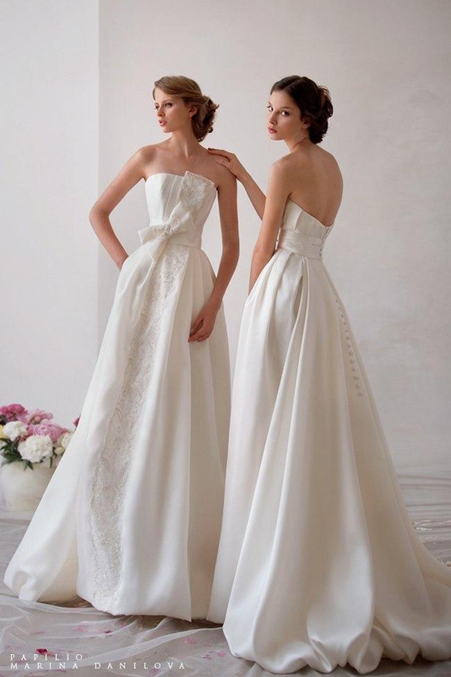 Красивые свадебные платья фото 2012, различные стили свадебных платьев короткие, пышные, необычные (3)