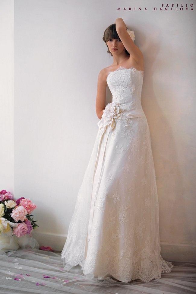Красивые свадебные платья фото 2012, различные стили свадебных платьев короткие, пышные, необычные (5)