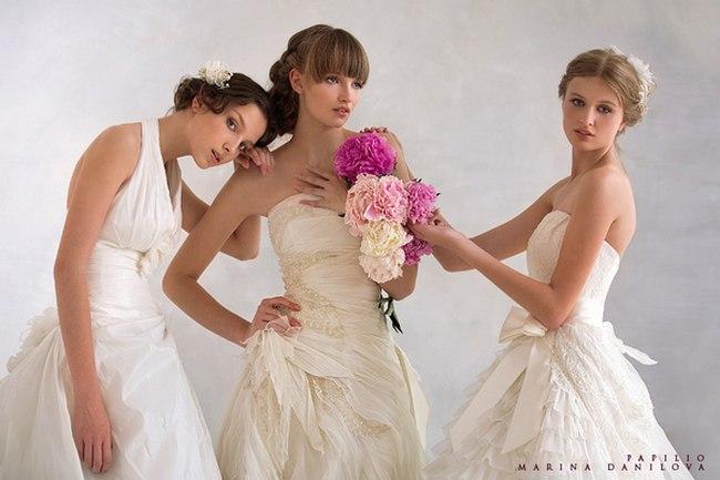 Красивые свадебные платья фото 2012, различные стили свадебных платьев короткие, пышные, необычные (6)