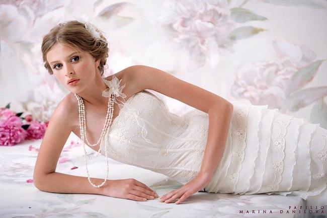 Красивые свадебные платья фото 2012, различные стили свадебных платьев короткие, пышные, необычные (8)
