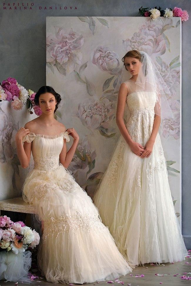 Красивые свадебные платья фото 2012, различные стили свадебных платьев короткие, пышные, необычные (11)