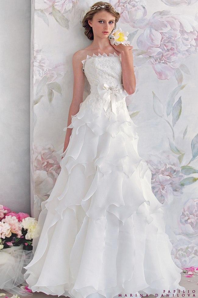 Красивые свадебные платья фото 2012, различные стили свадебных платьев короткие, пышные, необычные (12)