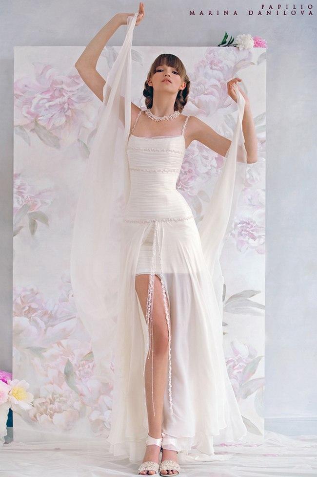 Красивые свадебные платья фото 2012, различные стили свадебных платьев короткие, пышные, необычные (13)