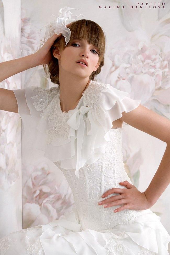 Красивые свадебные платья фото 2012, различные стили свадебных платьев короткие, пышные, необычные (15)