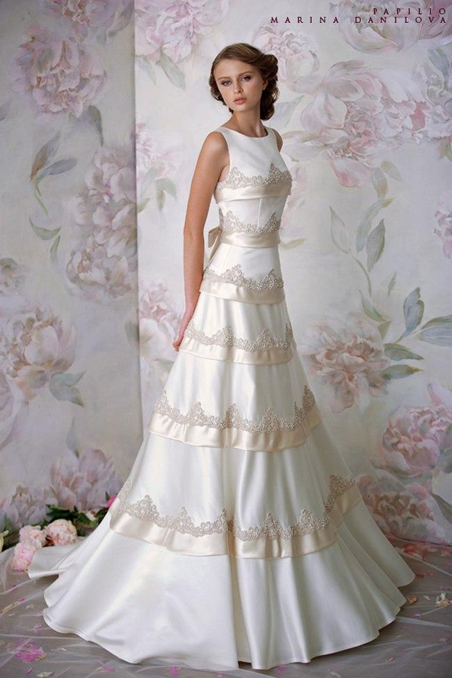 Красивые свадебные платья фото 2012, различные стили свадебных платьев короткие, пышные, необычные (17)
