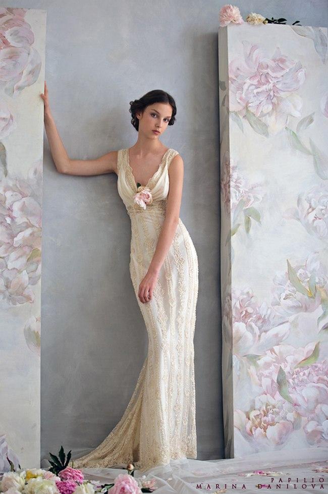 Красивые свадебные платья фото 2012, различные стили свадебных платьев короткие, пышные, необычные (22)