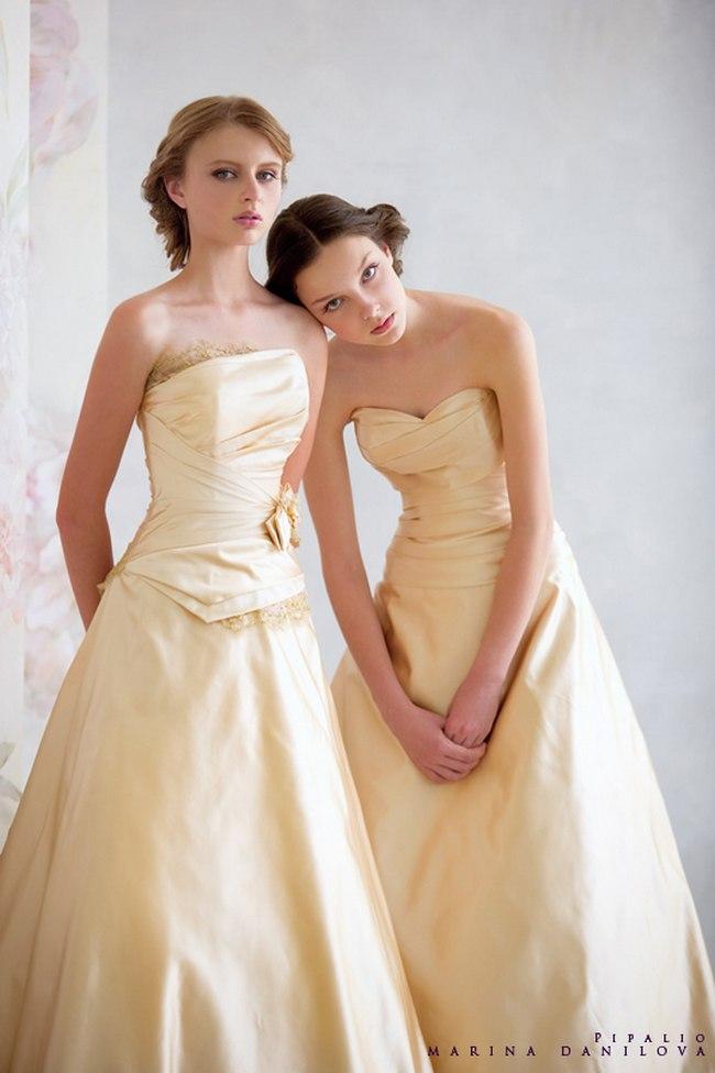 Красивые свадебные платья фото 2012, различные стили свадебных платьев короткие, пышные, необычные (25)