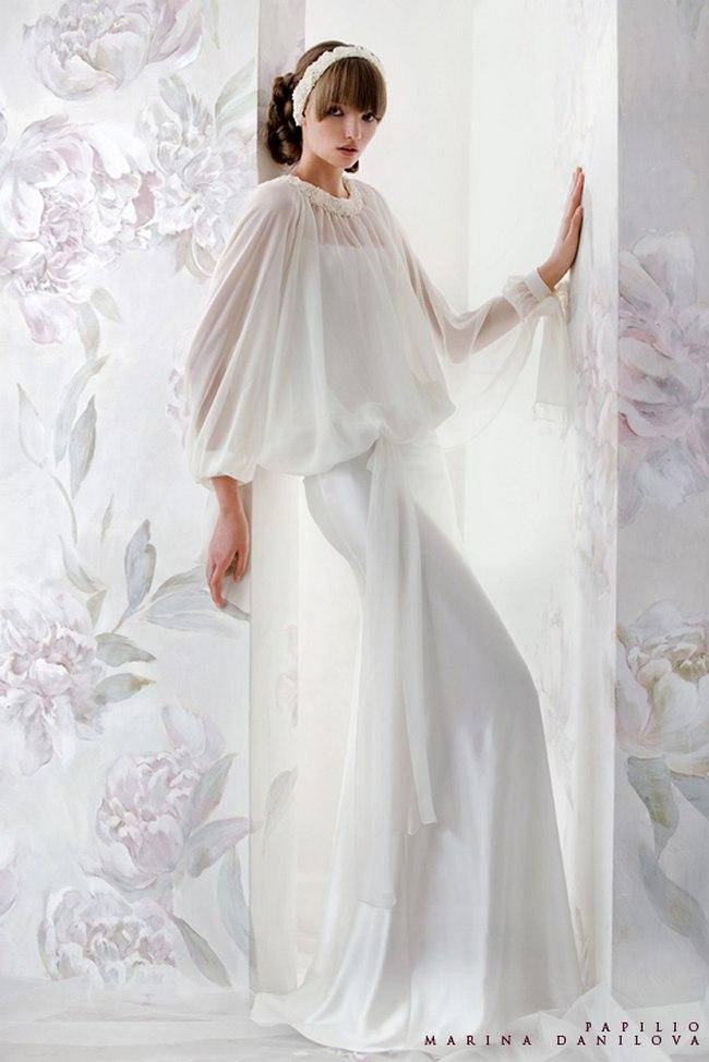 Красивые свадебные платья фото 2012, различные стили свадебных платьев короткие, пышные, необычные (26)