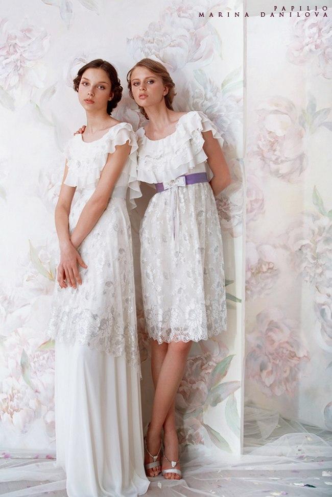 Красивые свадебные платья фото 2012, различные стили свадебных платьев короткие, пышные, необычные (27)