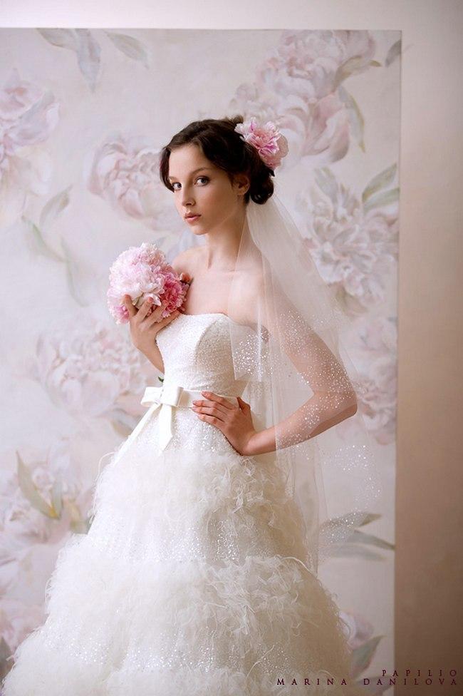 Красивые свадебные платья фото 2012, различные стили свадебных платьев короткие, пышные, необычные (28)