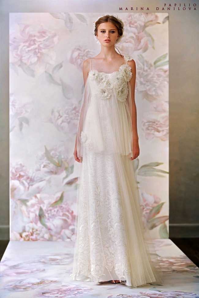 Красивые свадебные платья фото 2012, различные стили свадебных платьев короткие, пышные, необычные (29)