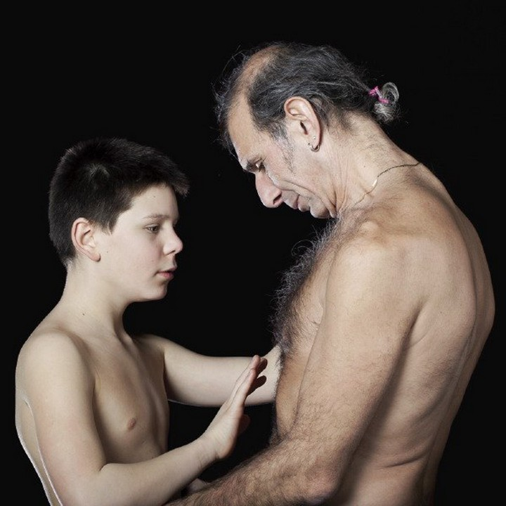 Naked boy with father #13