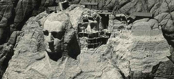 Как строили национальный мемориал гора Рашмор (17)