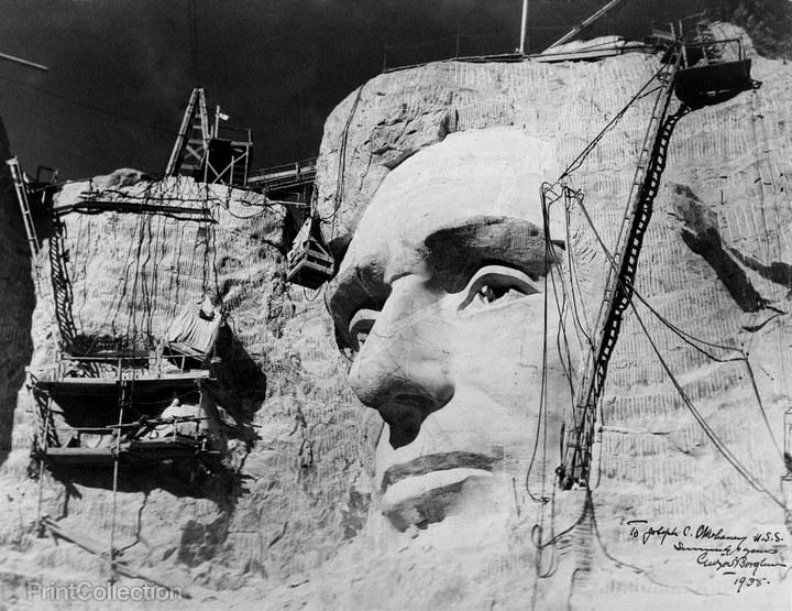 Как строили национальный мемориал гора Рашмор (18)