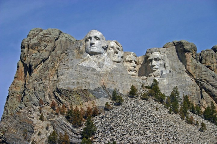 Как строили национальный мемориал гора Рашмор (21)