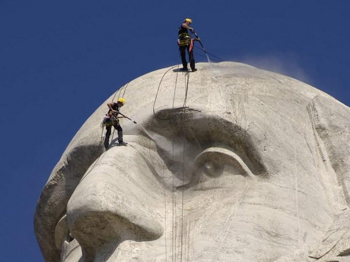 Как строили национальный мемориал гора Рашмор (23)