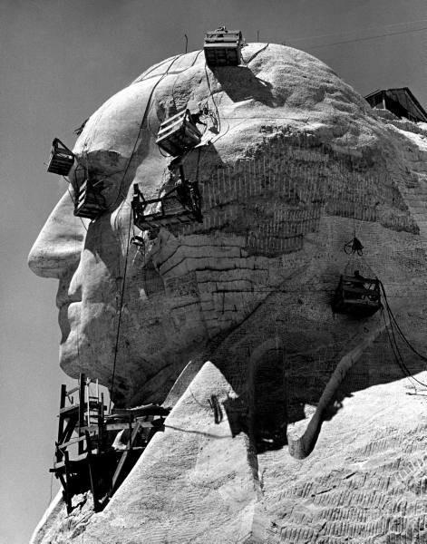 Как строили национальный мемориал гора Рашмор (5)