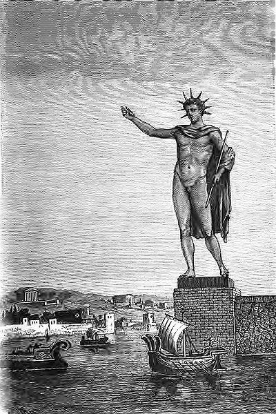 Чудеса света, Colosse de Rhodes_(Barclay) Колосс Родосский