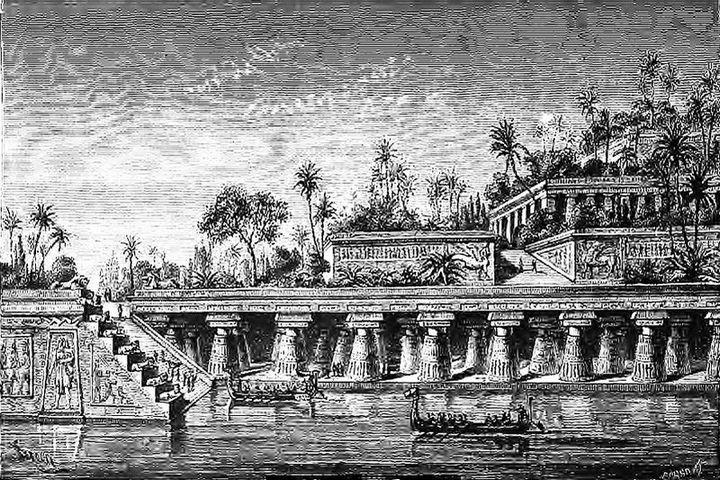 Чудеса света, Jardins suspendus de Babylone (Barclay) Сады в Вавилоне