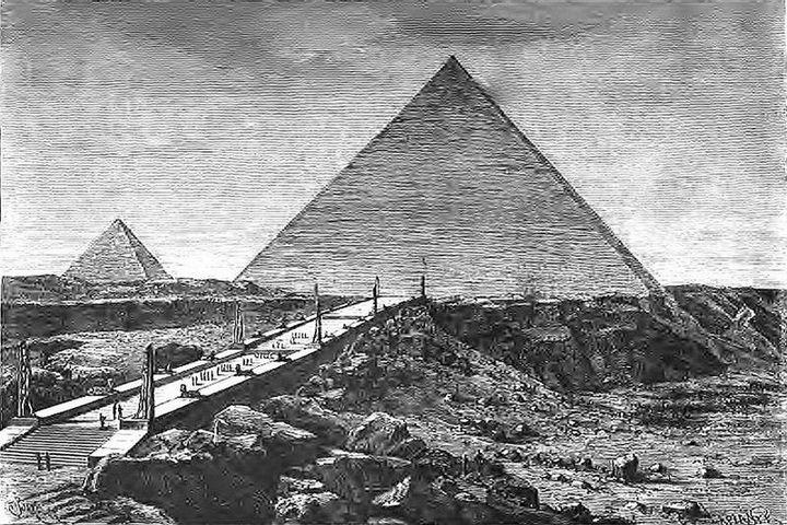 Чудеса света, Pyramides de Gizeh (Barclay) Пирамиды в Гизе
