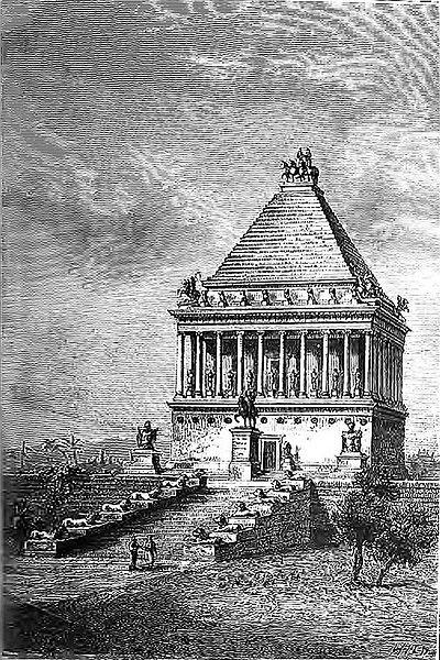 Чудеса света, Tombeau de Mausole (Barclay) Мавзолей в Галикарнасе