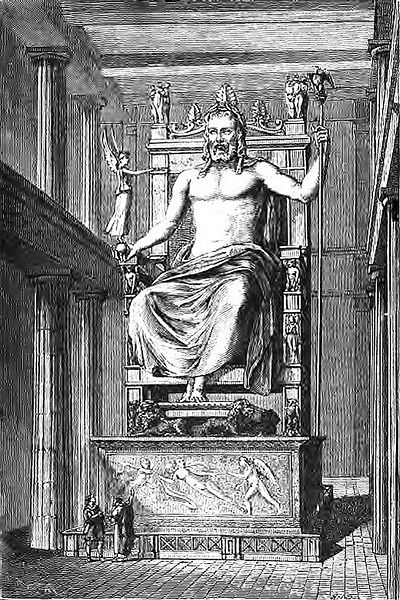Чудеса света, Zeus d'Olympie (Barclay) Статуя Зевса в Олимпии
