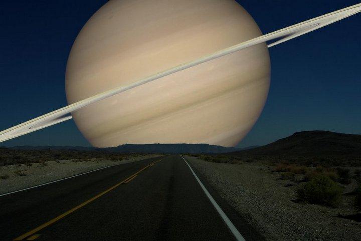 Как бы выглядели дрегие планеты оказавшись на месте Луны (1)