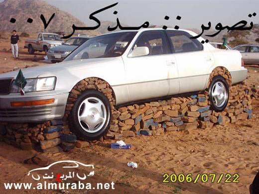 Машины на камнях. Необычное развлечение арабов (6)