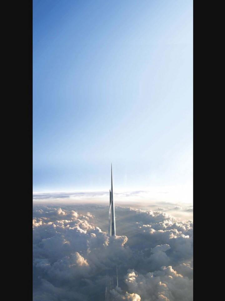Строительство самого высокого небоскреба в мире в Саудовской Аравии (3)