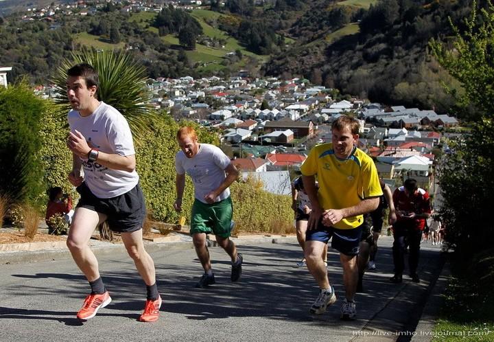 самая крутая улица занесенная в Книгу рекордов Гиннеса, улица на крутом склоне. Самая крутая улица Baldwin Street в Новой Зеландии (7)