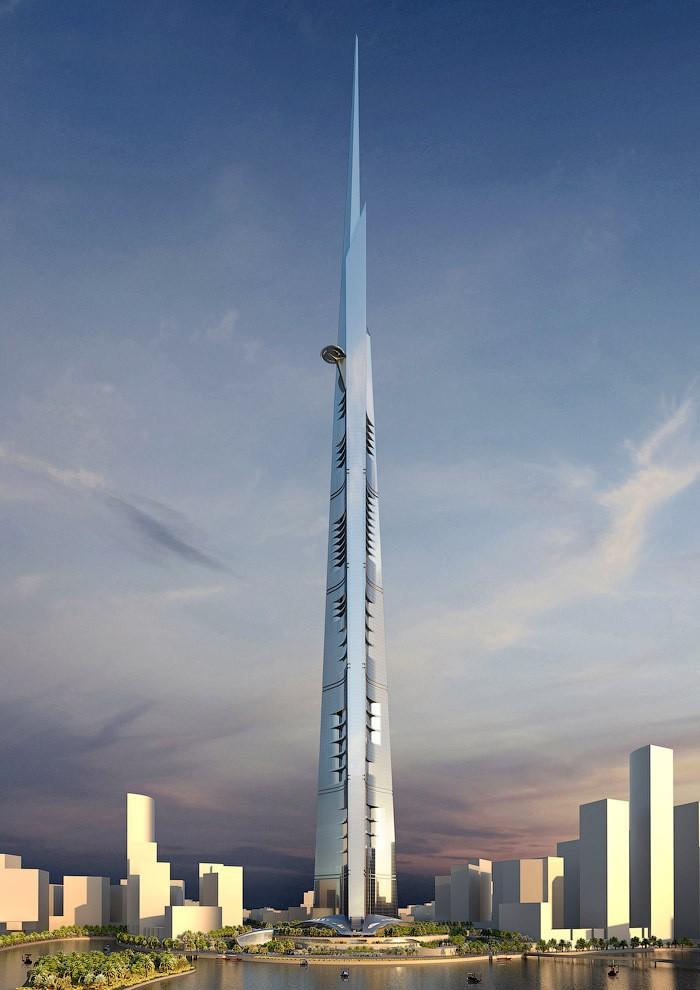 Строительство самого высокого небоскреба в мире в Саудовской Аравии (2)