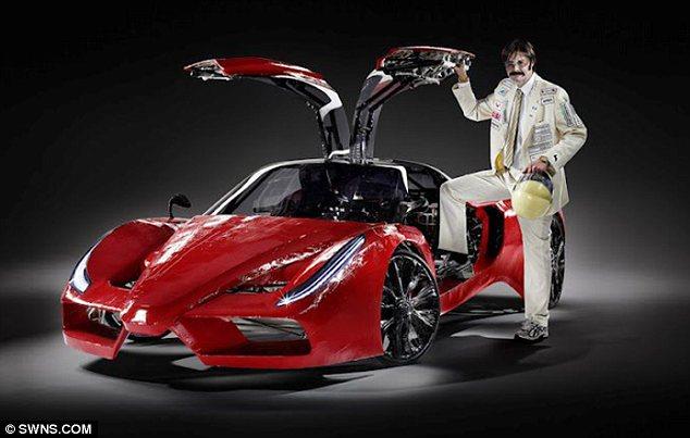 Самый дорогой велосипед в стиле Ferrari, самодельный Феррари (1)