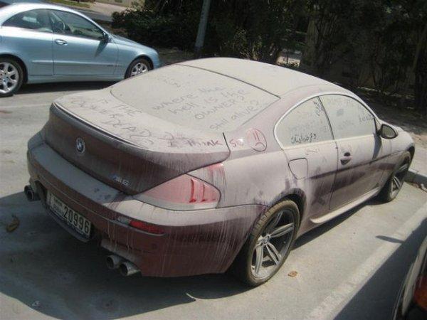 Брошенные дорогие автомобили в Дубае, редкие автомобили (10)