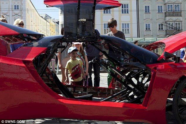 Самый дорогой велосипед в стиле Ferrari, самодельный Феррари (4)