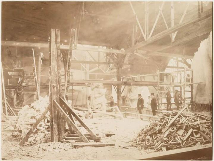 Как строили статую Свободы в Нью-Йорке, старые фото (4)