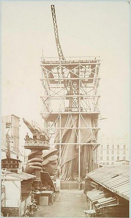Как строили статую Свободы в Нью-Йорке, старые фото (9)