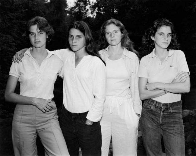 каждый год по фото, как стареют люди, четыре сестры (1)