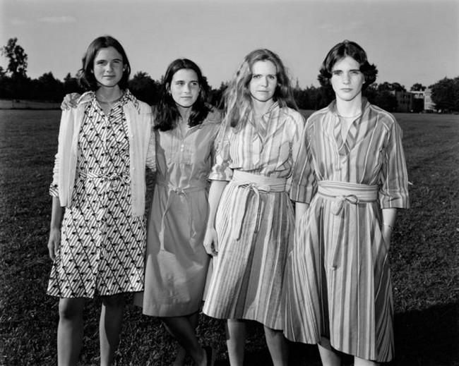 каждый год по фото, как стареют люди, четыре сестры (2)