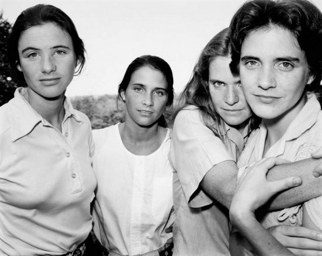 каждый год по фото, как стареют люди, четыре сестры (6)
