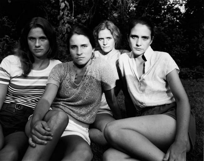 каждый год по фото, как стареют люди, четыре сестры (7)