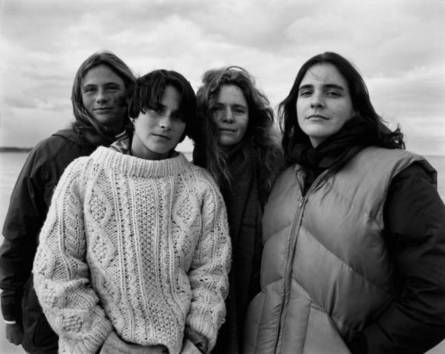 каждый год по фото, как стареют люди, четыре сестры (8)