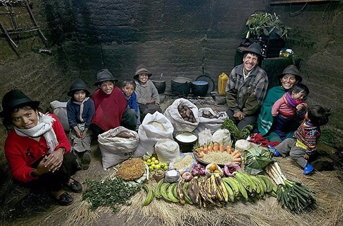 Что съедают семьи из 15 стран мира за неделю (6)